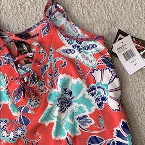 Floral summer mini slip dress